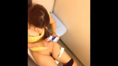 Hairy Asian Girl Public Peeing